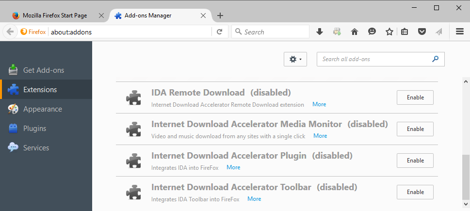 how to start your downloading again firefox
